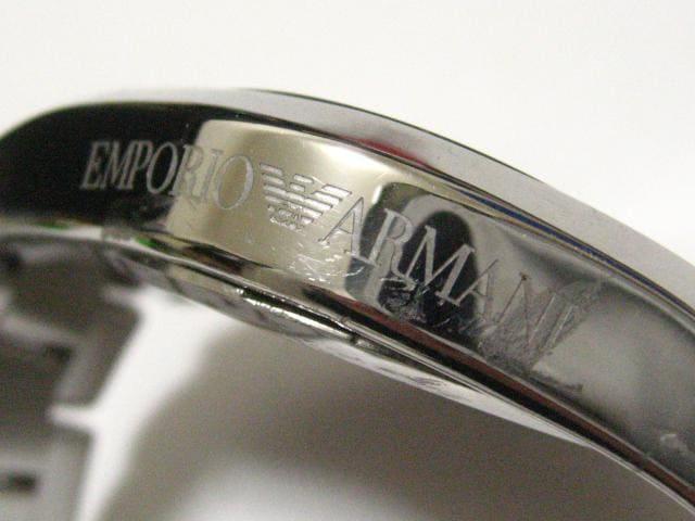 EMPORIO ARMANI.アルマーニ圧巻42ミリ.ステン無垢169g鏡面3列ベルト.迫力と美 < 男性アクセサリー/時計の