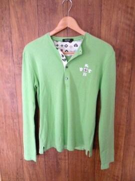 □バーバリーブラックレーベル ヘンリー 長袖Tシャツ/メンズ/2(M)