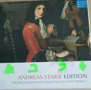 アンドレアスシュタイナー CD 10枚組 輸入盤 中古 A.Staier