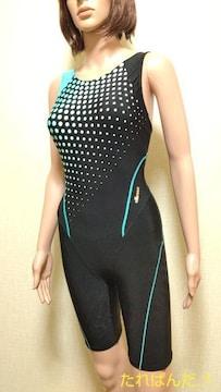 美品☆ellesse☆光沢ドット・オールイン競泳水着5348☆3点で即落