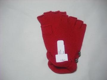 wb804 女 BILLABONG ビラボン ニット手袋 赤