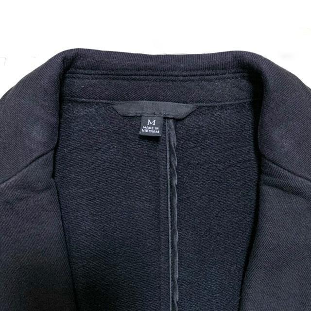 【used】長袖スウェットジャケット/UNIQLO/黒/メンズM/綿100% < 男性ファッションの