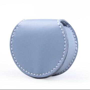 新品馬蹄型小銭入れ、本革ペパーミント グリーン財布携帯便利