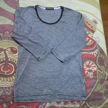 HIDEAWAYS(NICOLE)/ハイダウェイボーダー七分Tシャツ