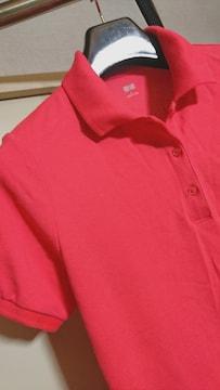 UNIQLO  ピンク系  半袖ポロシャツ L