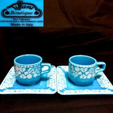 ティファニー/Tiffany カップ&ソーサー 2客セット