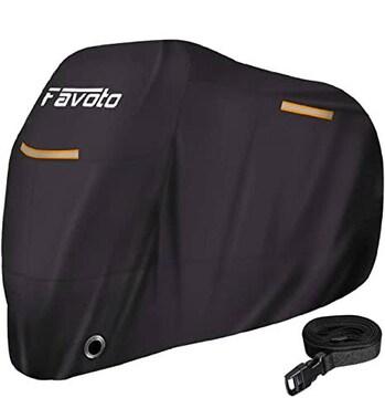 色245*105*125cm Favoto バイクカバー 大値下げ 反射ストライプ