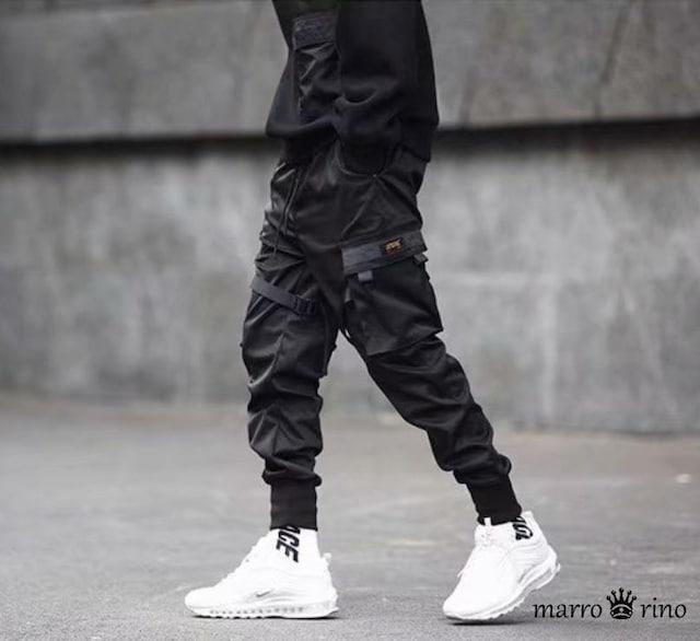 ブラック カーゴ パンツ サバゲー サバイバル < 男性ファッションの