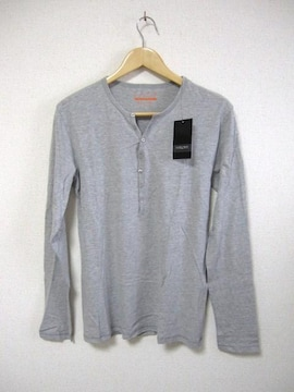 □ZARA/ザラ ヘンリー ロング Tシャツ/長袖Tシャツ/グレー/S☆新品