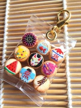 フェイクスイーツ*袋入り・夏祭りクッキー・カニカンチャーム