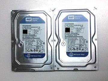 ★ハードディスク WD WD3200AAKS 320GB SATA 2個セット