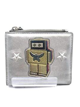 MCM(エムシーエム)ロボター 二つ折りフラットウォレット カーフスキンレザー二つ折り財布