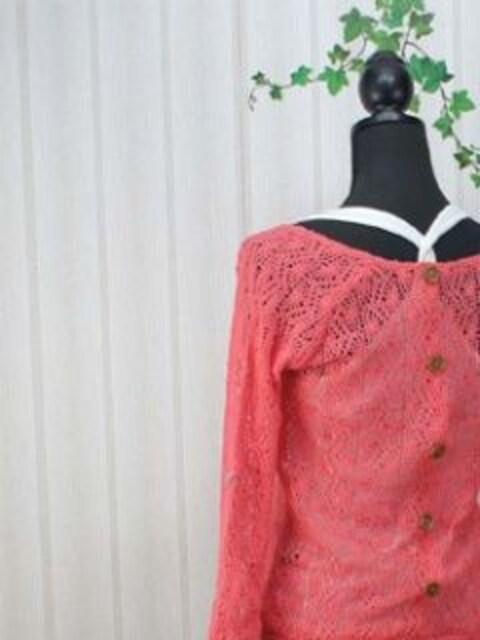 〓新品〓後ろボタン止〓透し編み上げカーディガン&タンク〓 < 女性ファッションの