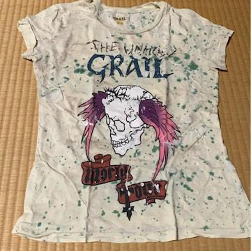 インポートTシャツ グレイル  タトゥ イラスト トップス
