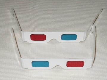 赤青めがね 3Dメガネ 2個セット★新品未使用