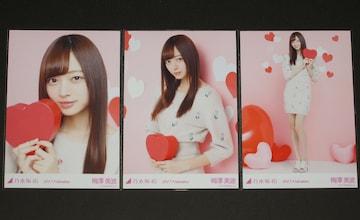 乃木坂46 梅澤美波 生写真3枚セット 2017.Valentine