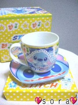 ディズニー【スティッチ】可愛い♪マグカップ&プレート皿 2点セット