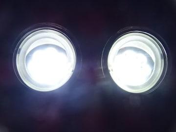 トヨタ LEDイカリングフォグランプ 白2個 エスティマアクアウィッシュアクシオイストカムリプレミオ