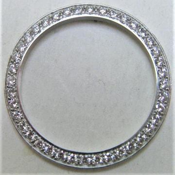 極美品 未使用保管品 ダイヤ ベゼル K18WG 18金ホワイトゴールド