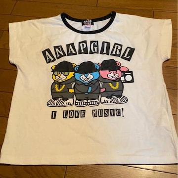 *ANAP GIRL *くまプリTシャツ*S