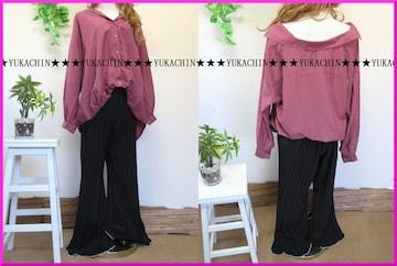 新作◆大きいサイズ3Lブラック◆総プリーツ使い◆裾ホワイト◆ゆるパンツ