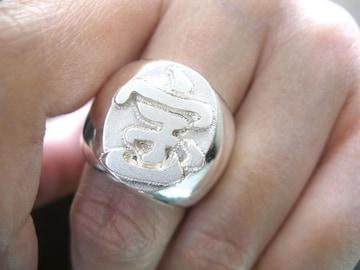 仁尾彫金『宝の印台リング』ハンドメイド157