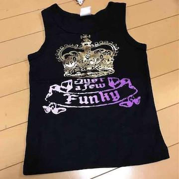 新品◆ゴールド王冠◆タンクトップ◆120ストーン付キラキラ