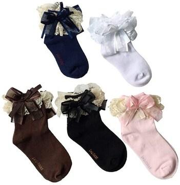 ソックス 5足セット レースフリル付 キッズ 子供 幼児 靴下