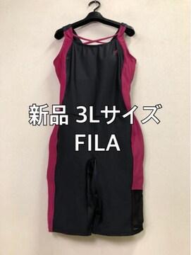 新品☆3LサイズFILAオールインワン水着スイミング☆j426