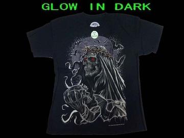 新品 Monster Screen Skull XL 限定夜光T−シャツ#2