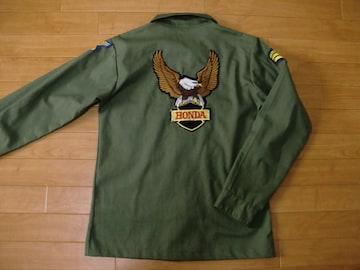 アメリカ軍 ミリタリーシャツ ホンダ ワッペン M
