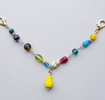 チベットアンティークビーズの羽織紐