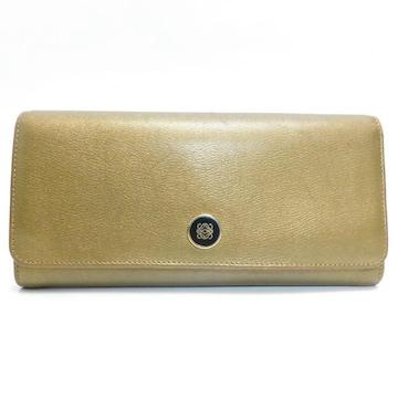 LOEWEロエベ 二つ折り長財布 アナグラム レザー 良品 正規品