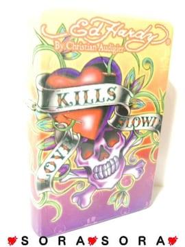 【エドハーディー】〈スカル Love Kills Slowly〉特大卓上オイルライター