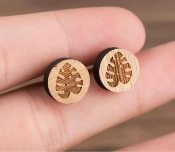 モンステラ ピアス 木製 ウッド