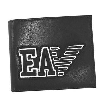◆新品本物◆エンポリオアルマーニ 2つ折財布(BK)『Y4R167 YTC2E』◆