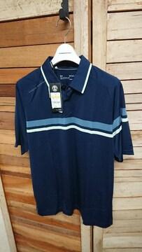 新品 定価9900円 UNDER ARMOURゴルフ 半袖ポロシャツ MD