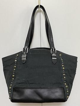 ◆良品【DIESEL/ディーゼル】ビストートバッグ 黒◆