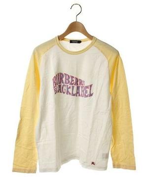 ☆バーバリー ブラックレーベル Tシャツ 長袖/メンズ/3☆白