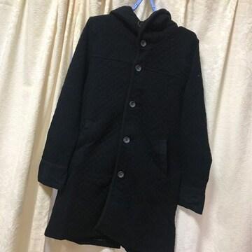 チャオパニックTYPY◆フード付キルティングコート◆ブラック