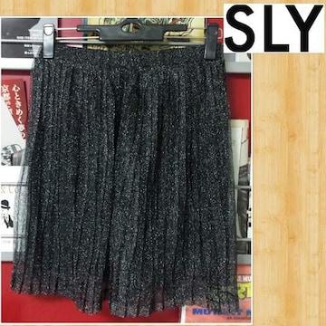 購入6825円 SLY スライ 新品 プリーツスカート ワンサイズ