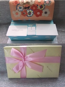 新品■ツモリチサト■フラワーボーダー長財布¥22680 /包装済