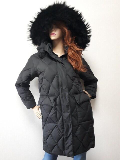 L・F・M イタリア ロングダウン ブラック XS  < 女性ファッションの