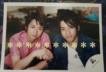 レア★嵐 混合<大野智/二宮和也>公式写真*嵐ロゴ*2005One