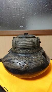 江戸後期→大名→鳳凰→像巌→施→茶釜→窯印