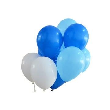 風船 10インチ バルーン 飾り付け ブルー混色