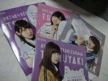 HKT48vs欅坂46 クリアファイル 4種 イオン ロッテ