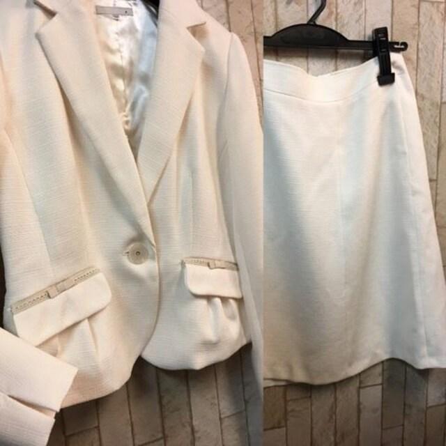 新品☆9号♪オフホワイト系のセレモニースーツ3点セット☆s732 < 女性ファッションの