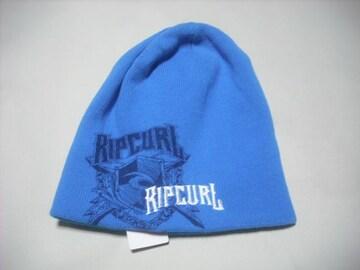 rc159 男 RIP CURL リップカール ニット帽 ビーニー 青