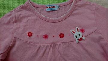 110女の子 ミキハウス 長袖Tシャツ